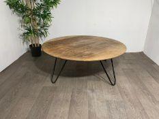 Wooden Tripod Coffee Table