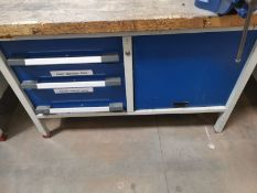 Steel Workbench with Wooden Top