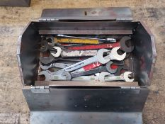 Metal Toolbox x2 Spanners and Sockets