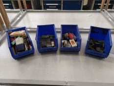 Blue Containers x4 and 6x Protective Glasses