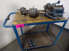 Cart w/milling vise & tapping heads