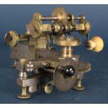 Zahnradfräsmaschine/Zahnräderschneidemaschine, frühes Uhrmacherwerkzeug, deutsch Mitte 18. Jhd.,
