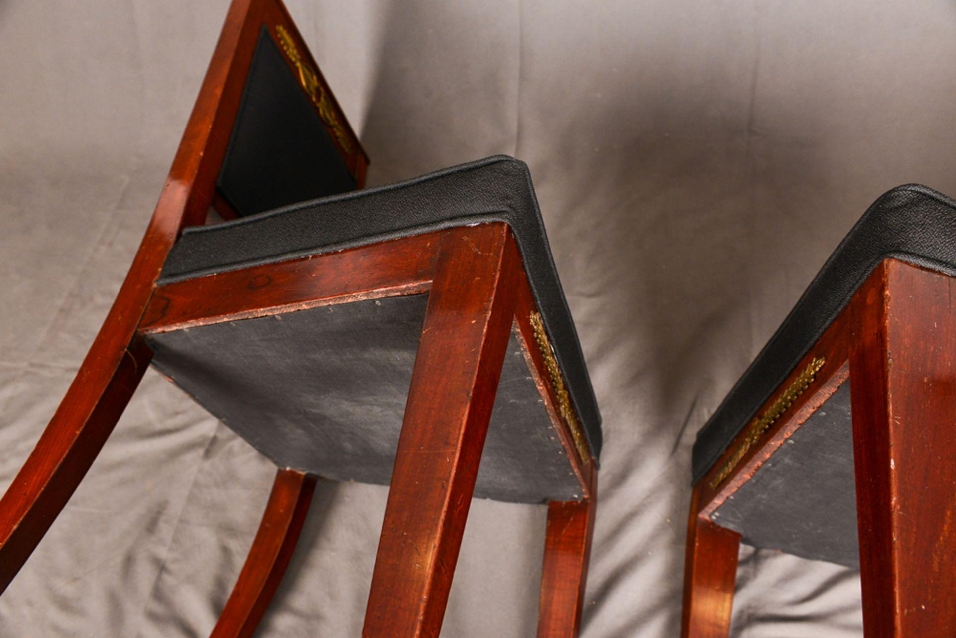Paar Polsterstühle, Stil Empire. 19. oder 20. Jhd. Wohnfertiger, vor wenigen Jahren restaurierter - Bild 8 aus 11