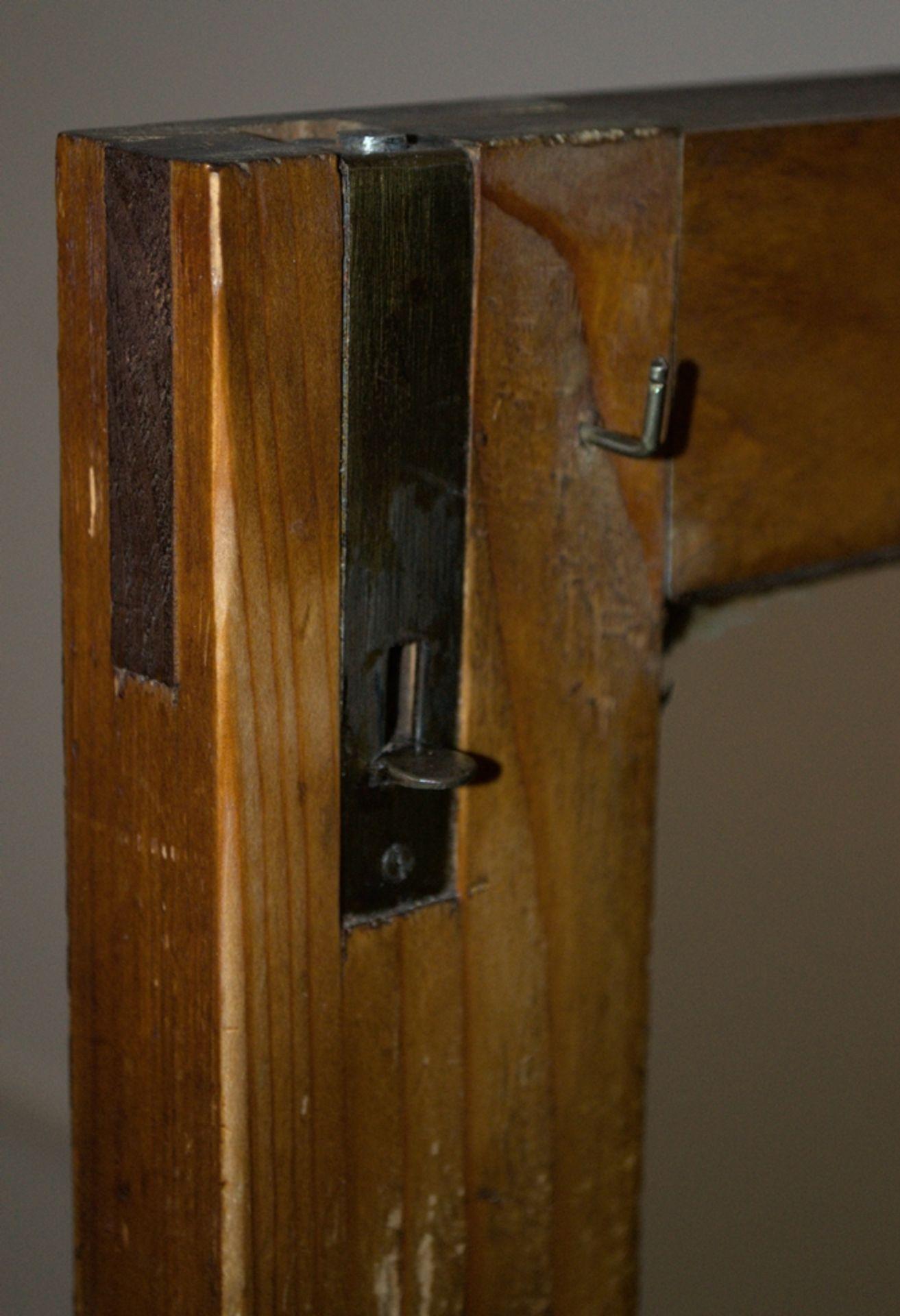 Zweitüriger Glasschrank/Bücherschrank/Vitrine. Norddeutsches Spätbiedermeier/Louis Philippe, 2. - Bild 12 aus 14