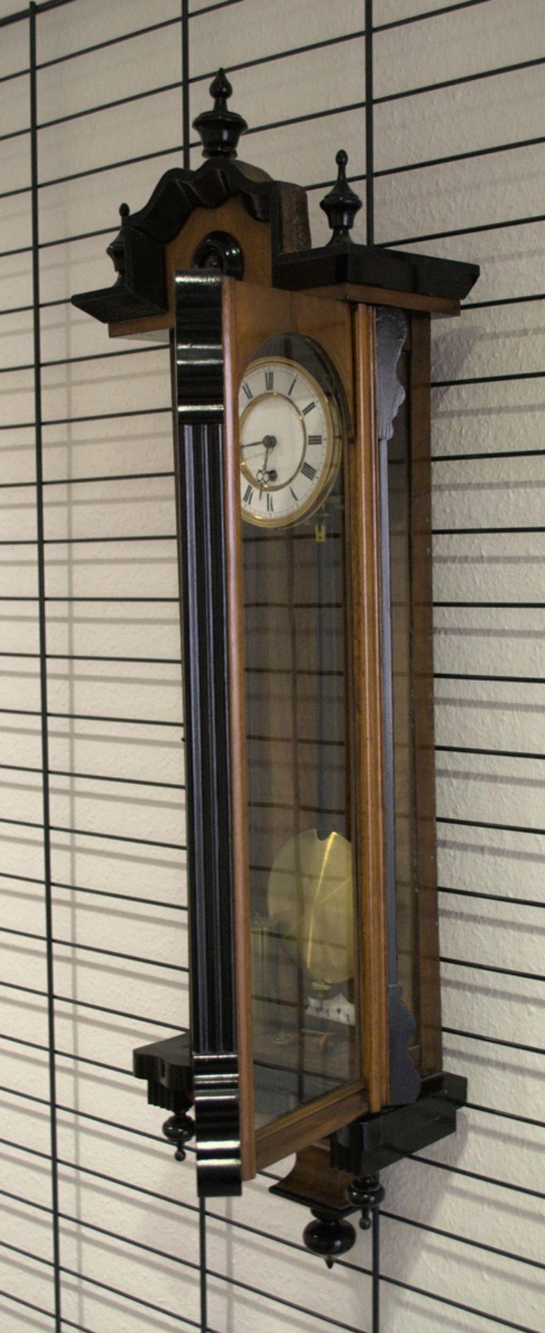 Wandregulator, eingewichtige, mechanische Wanduhr im Nussbaumgehäuse. Werk ungeprüft. Höhe ca. 95 - Bild 4 aus 19