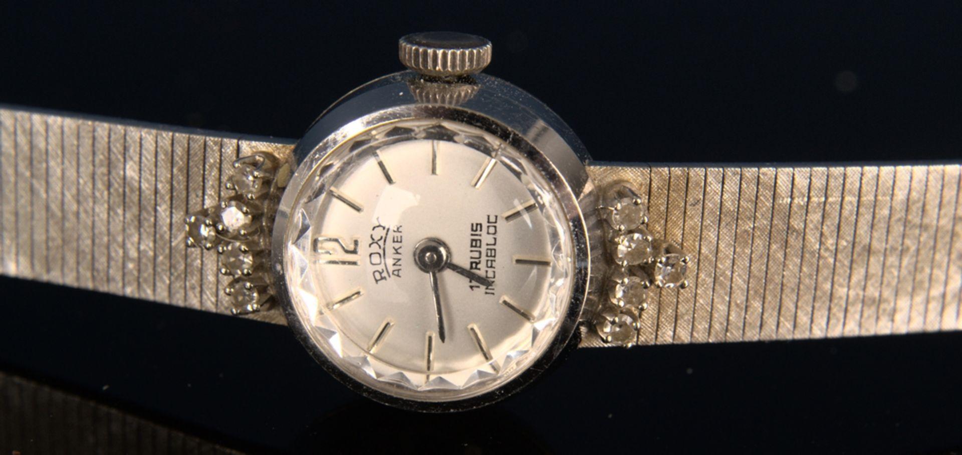 "Elegante COCKTAIL - Damenarmbanduhr der Marke ""ANKER - ROXY"" - 17 Rubis - Incabloc. Handaufzug, - Bild 3 aus 11"