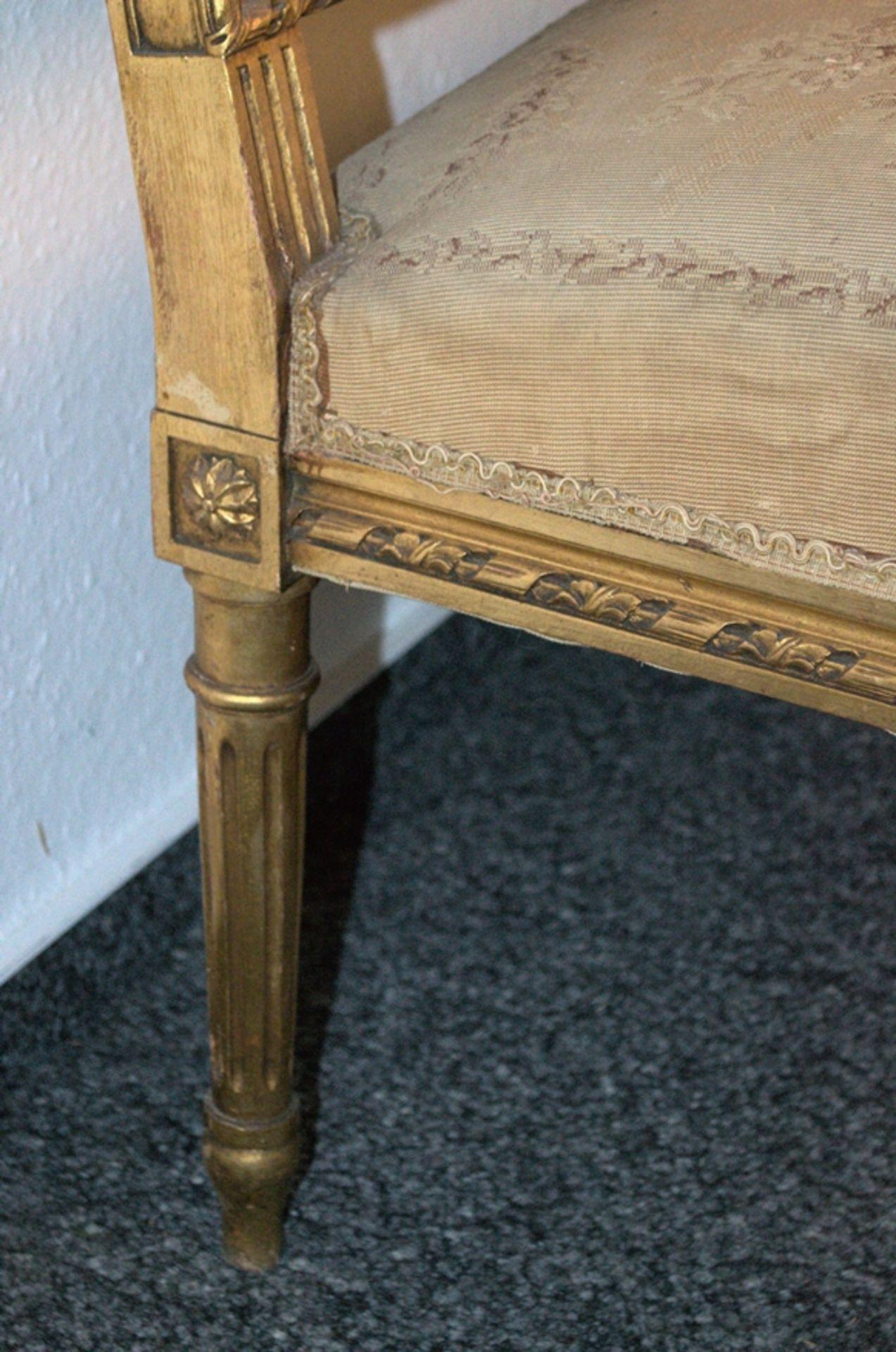 Prachtvolles Kanapee, Louis XVI-Stil, Frankreich um 1890. Zweisitzige, gepolsterte Sitzbank, - Bild 8 aus 12