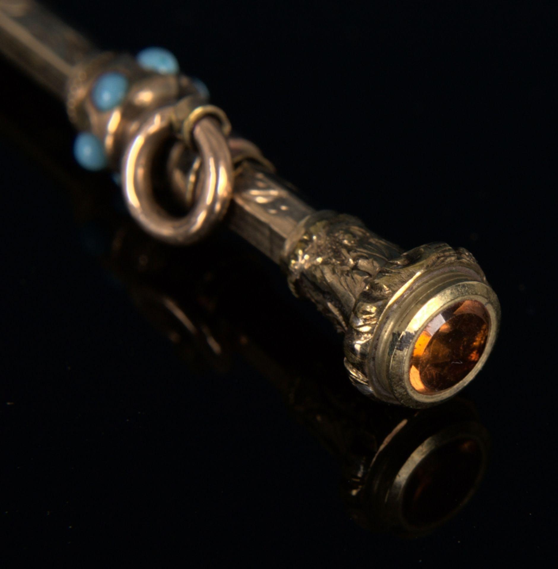 8teilige Sammlung versch. Taschenuhrenschlüssel, überwiegend 19. Jhd. Versch. Alter, Größen, - Bild 10 aus 24