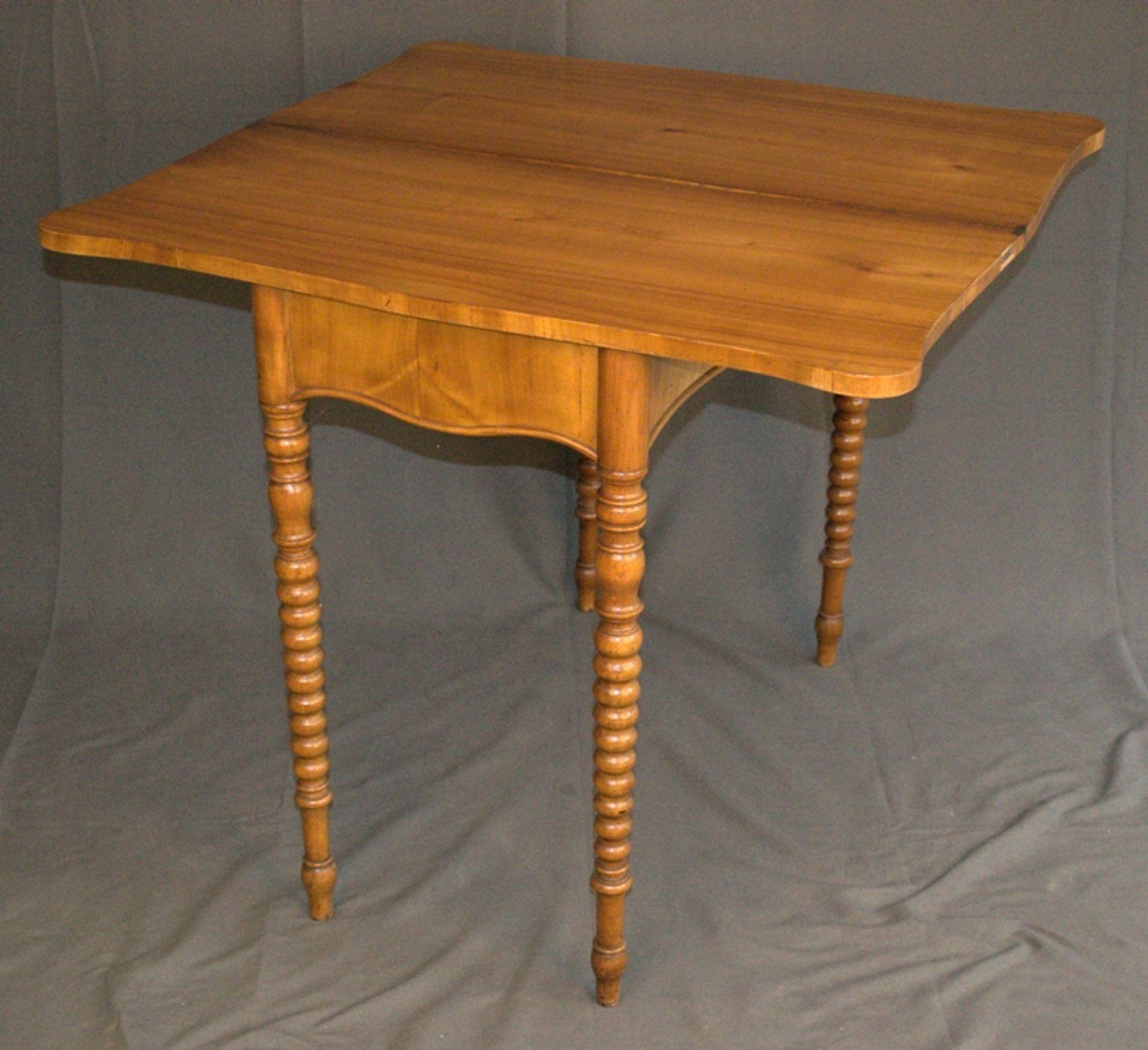 Konsoltisch/Spieltisch. Spätes Biedermeier um 1840/50. Kirschbaum massiv & furniert. Gepflegter - Bild 8 aus 24