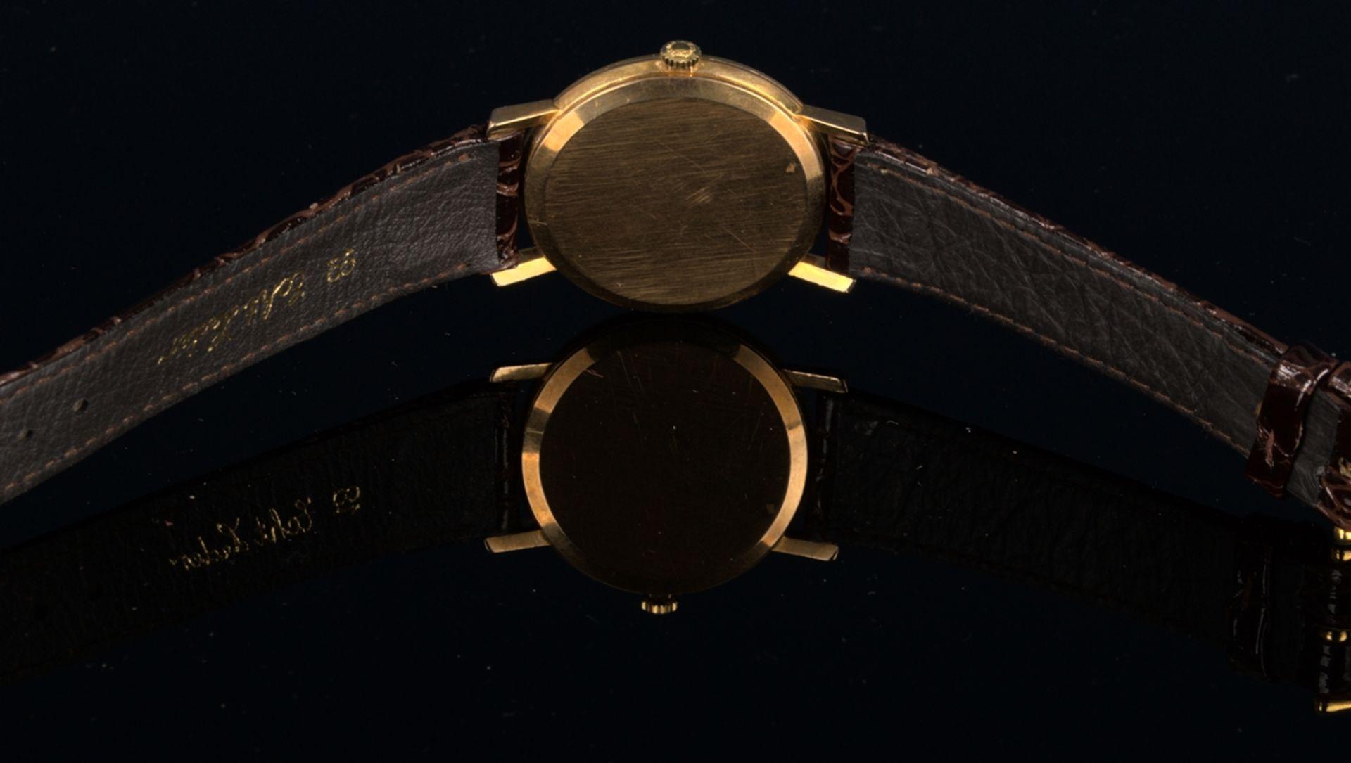 """""""LONGINES"""" - Elegante, goldene Herrenarmbanduhr der Marke Longines. Gehäuse in 18 K Gelbgold, - Bild 7 aus 12"""