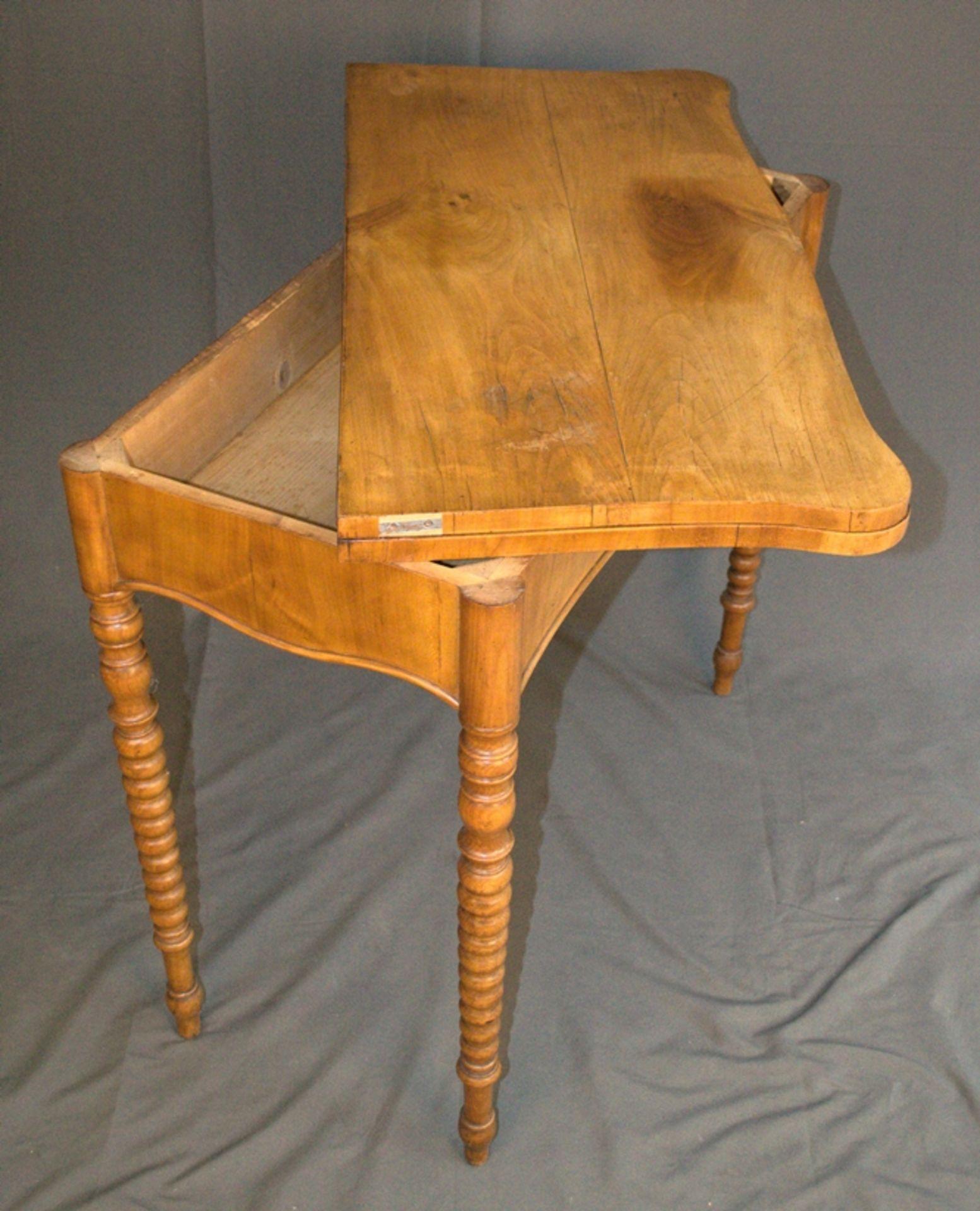 Konsoltisch/Spieltisch. Spätes Biedermeier um 1840/50. Kirschbaum massiv & furniert. Gepflegter - Bild 14 aus 24