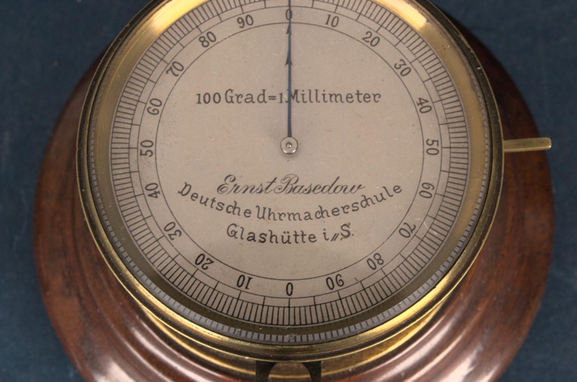 """""""ERNST BASEDOW - Deutsche Uhrmacherschule Glashütte i(n) S(achsen)"""" - inaktiver Feintaster auf - Bild 3 aus 9"""