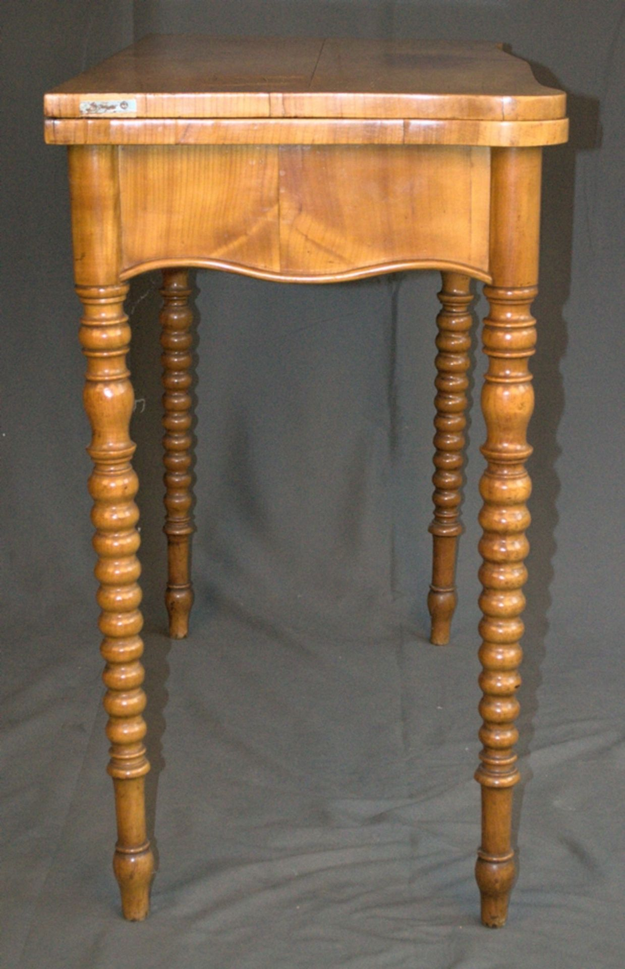 Konsoltisch/Spieltisch. Spätes Biedermeier um 1840/50. Kirschbaum massiv & furniert. Gepflegter - Bild 18 aus 24