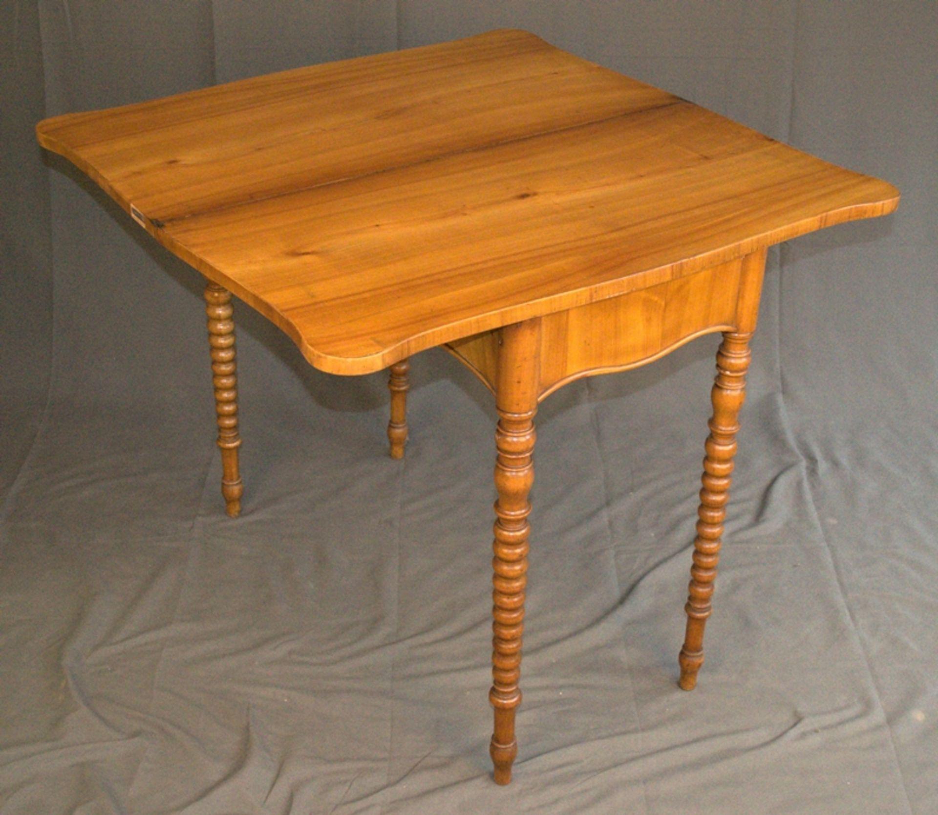 Konsoltisch/Spieltisch. Spätes Biedermeier um 1840/50. Kirschbaum massiv & furniert. Gepflegter - Bild 5 aus 24