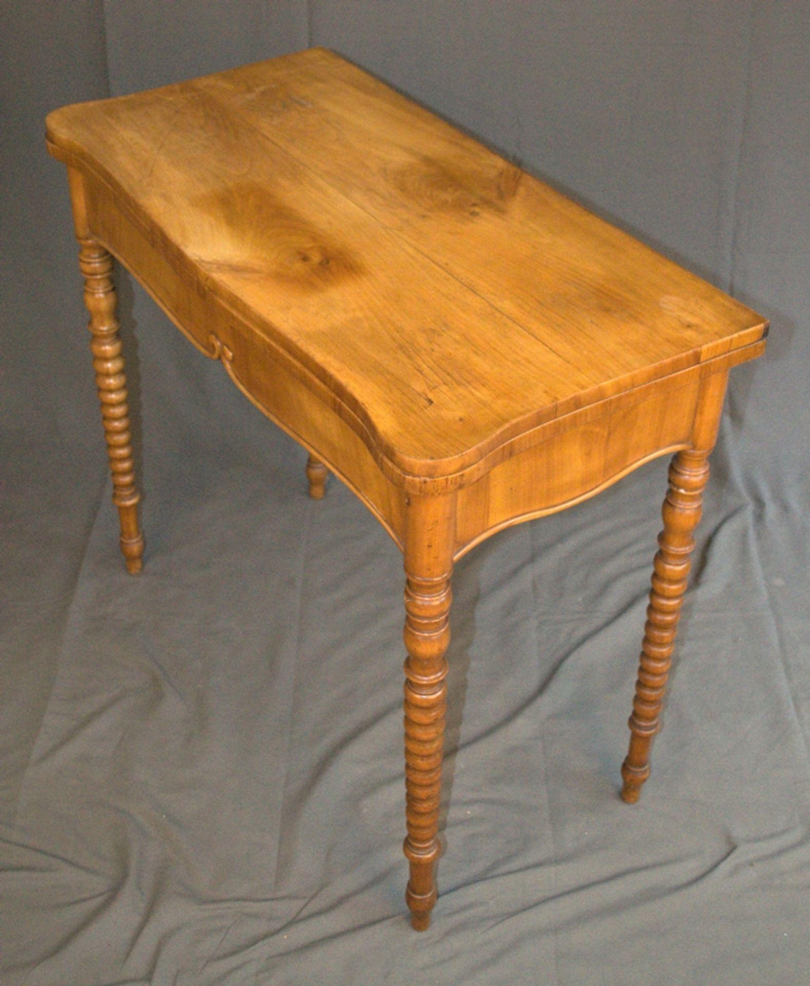 Konsoltisch/Spieltisch. Spätes Biedermeier um 1840/50. Kirschbaum massiv & furniert. Gepflegter - Bild 4 aus 24