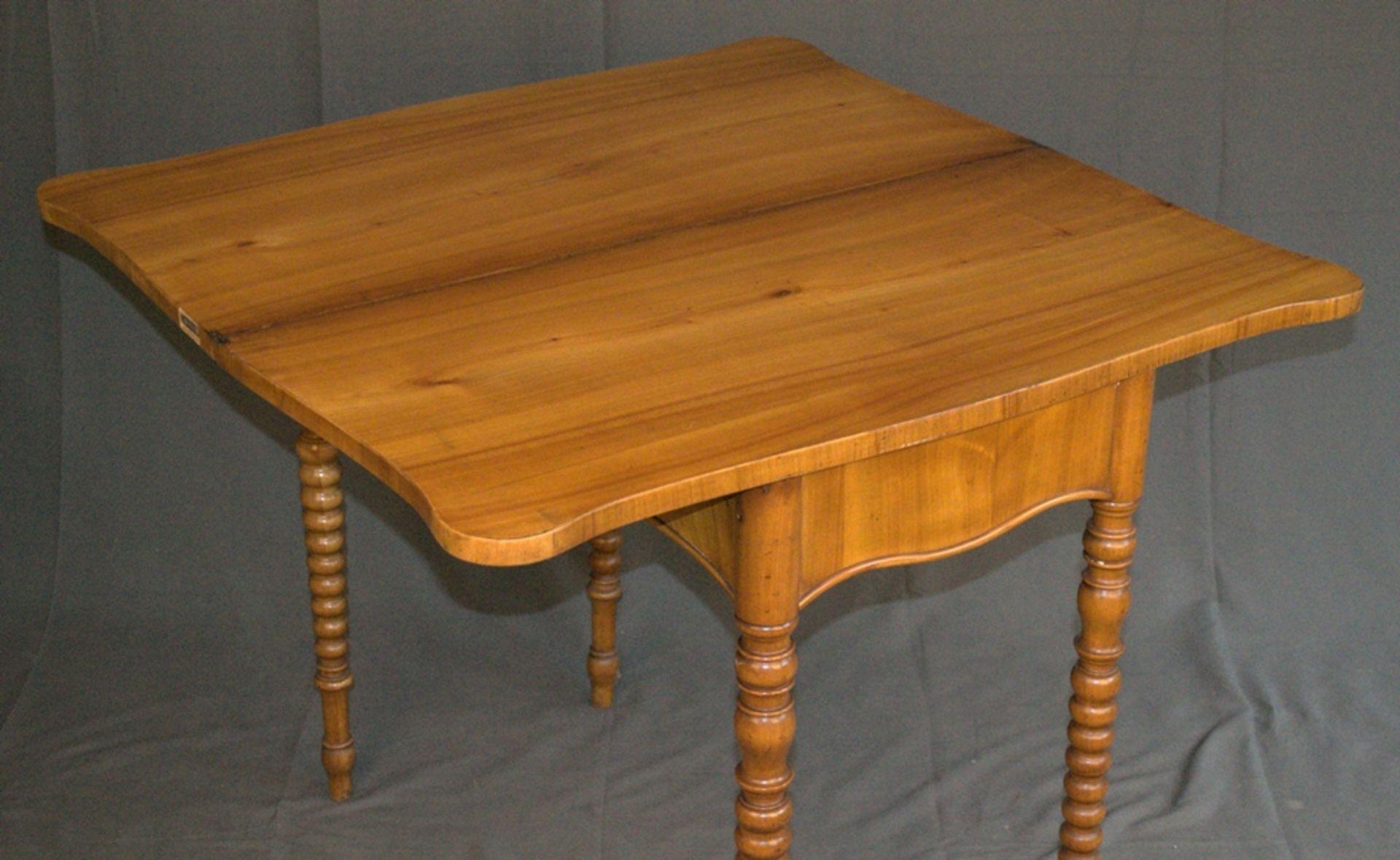 Konsoltisch/Spieltisch. Spätes Biedermeier um 1840/50. Kirschbaum massiv & furniert. Gepflegter - Bild 6 aus 24