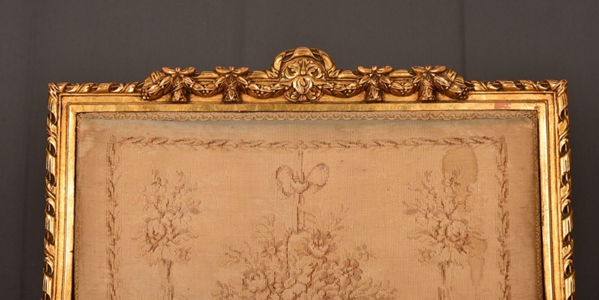 Eleganter Armlehnstuhl sog. Fauteuil, Louis XVI-Stil, Frankreich um 1890, originale Stoffbespannung, - Bild 3 aus 12