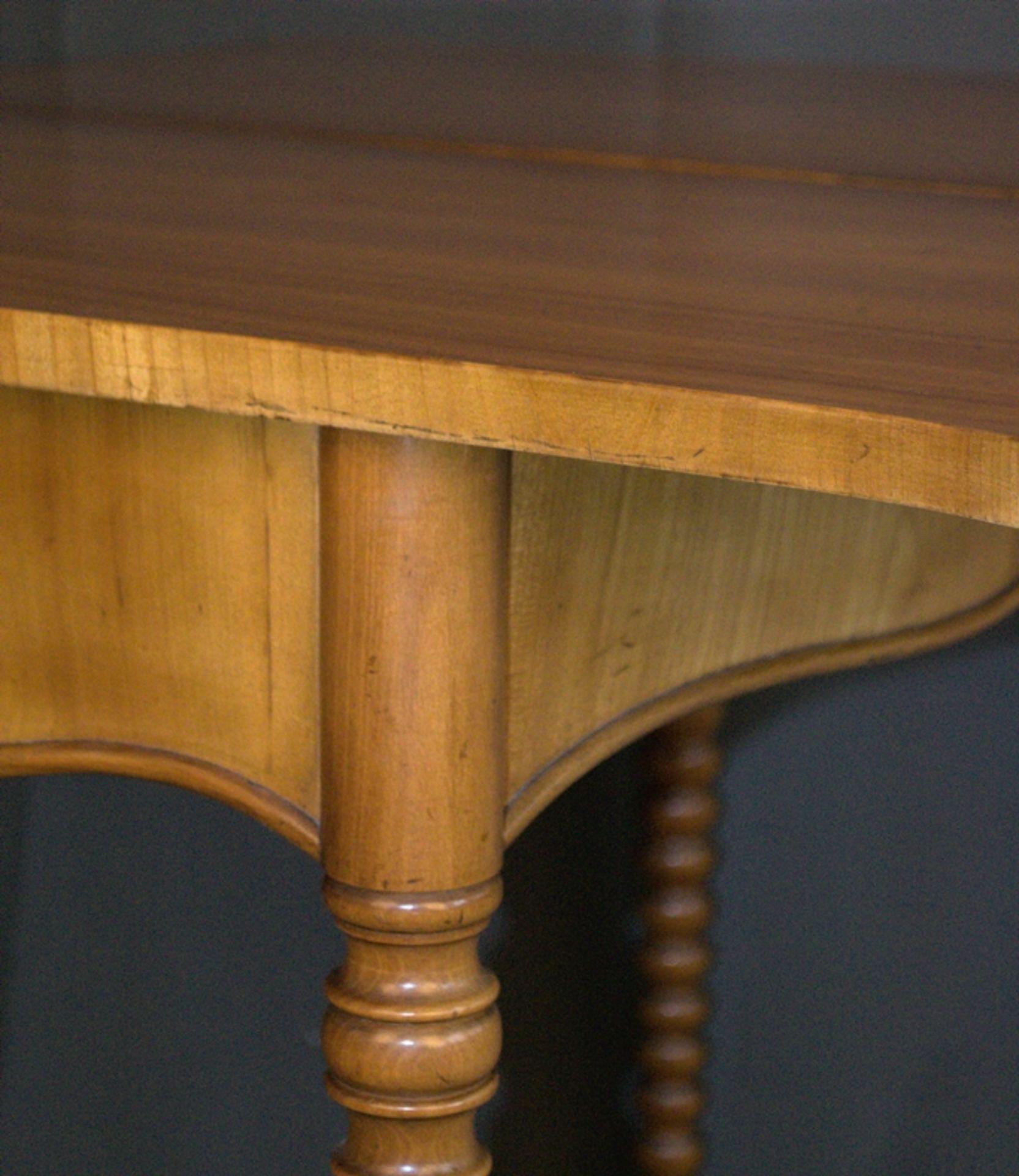 Konsoltisch/Spieltisch. Spätes Biedermeier um 1840/50. Kirschbaum massiv & furniert. Gepflegter - Bild 9 aus 24