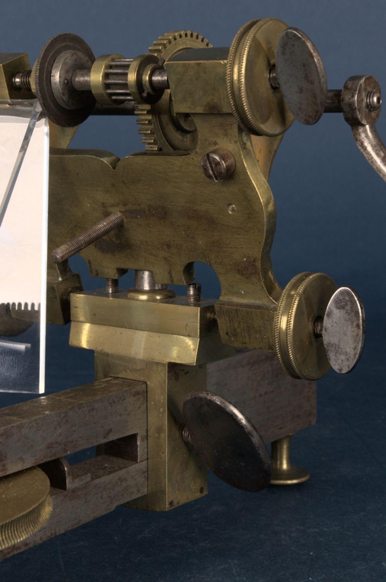 Zahnradfräsmaschine/Zahnräderschneidemaschine, frühes Uhrmacherwerkzeug, deutsch Mitte 18. Jhd., - Bild 28 aus 29