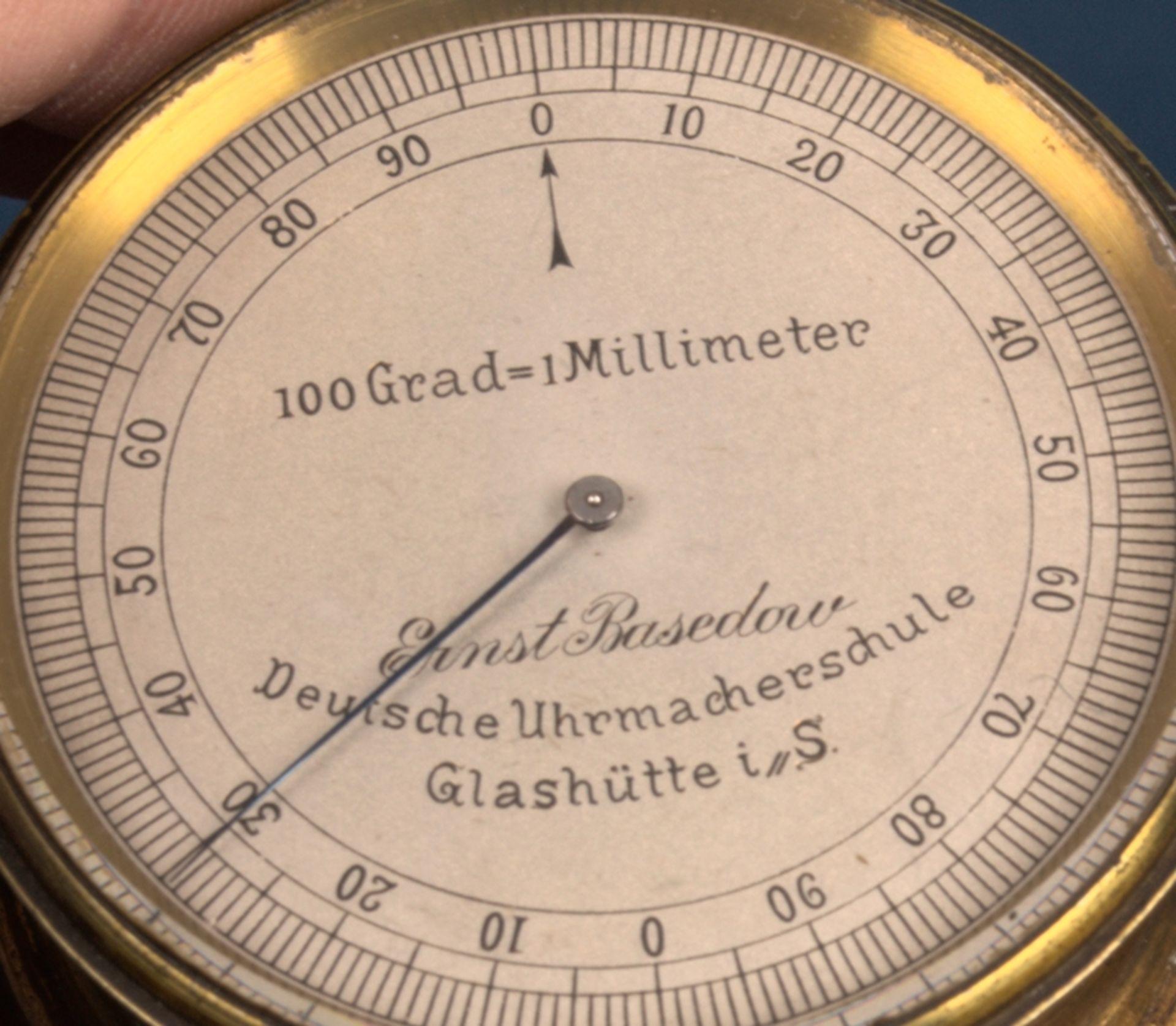 """""""ERNST BASEDOW - Deutsche Uhrmacherschule Glashütte i(n) S(achsen)"""" - inaktiver Feintaster auf - Bild 6 aus 9"""