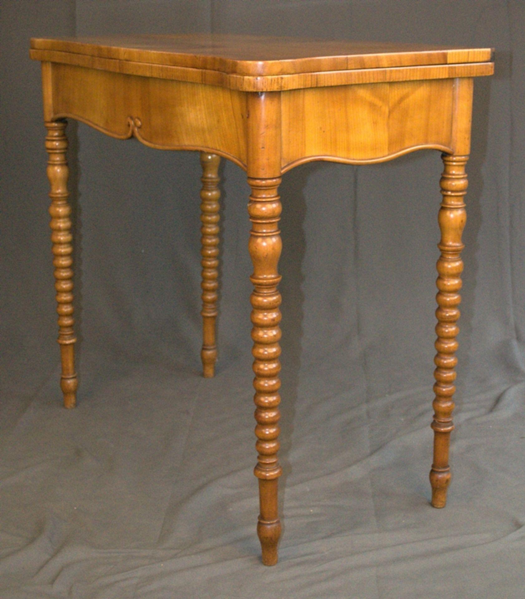 Konsoltisch/Spieltisch. Spätes Biedermeier um 1840/50. Kirschbaum massiv & furniert. Gepflegter - Bild 2 aus 24