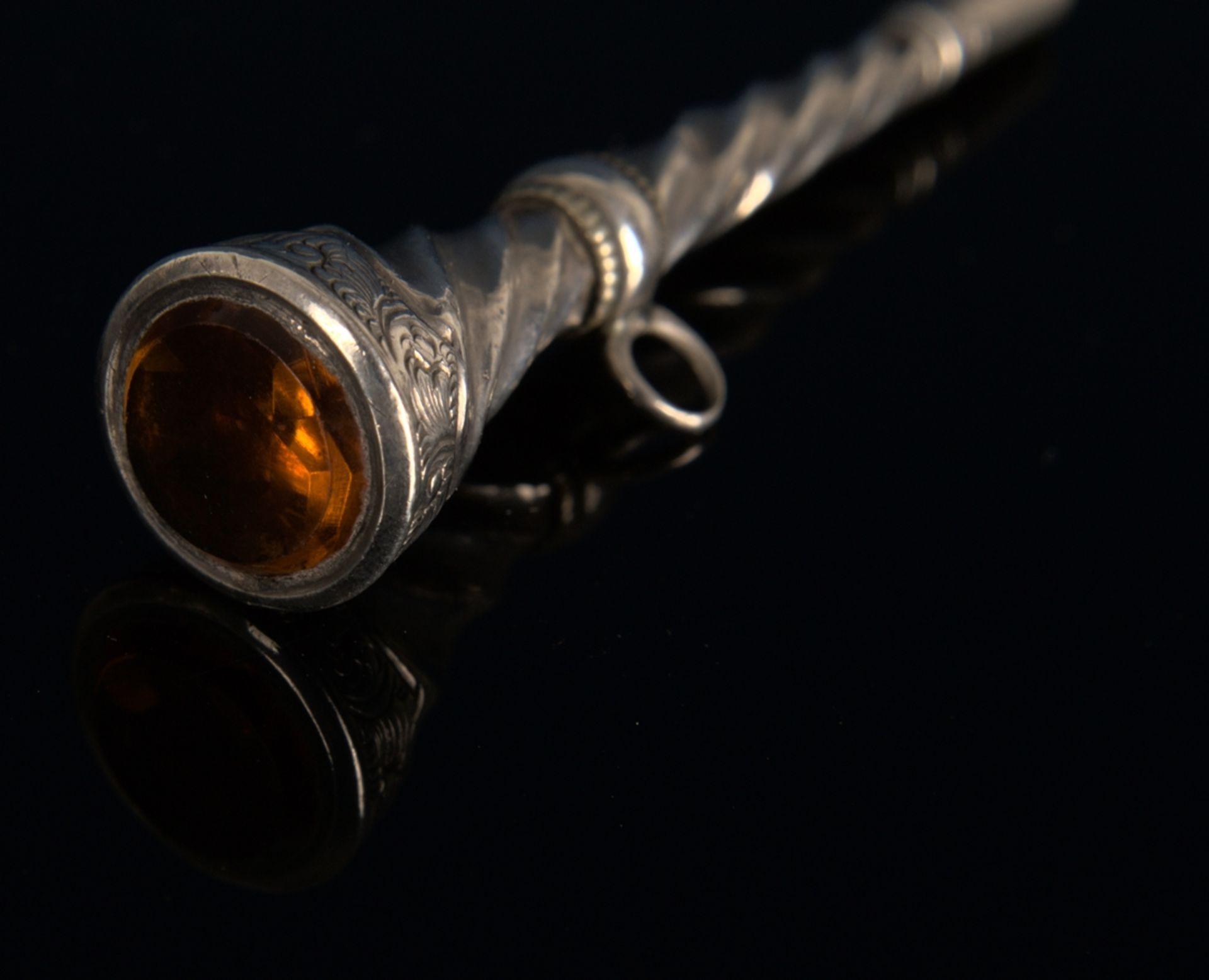 8teilige Sammlung versch. Taschenuhrenschlüssel, überwiegend 19. Jhd. Versch. Alter, Größen, - Bild 13 aus 24