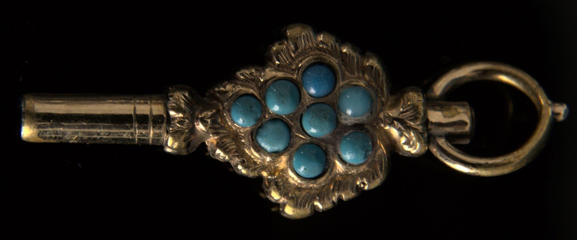 9teilige Sammlung versch. Taschenuhrenschlüssel, überwiegend 19. Jhd. Versch. Alter, Größen, - Bild 9 aus 18