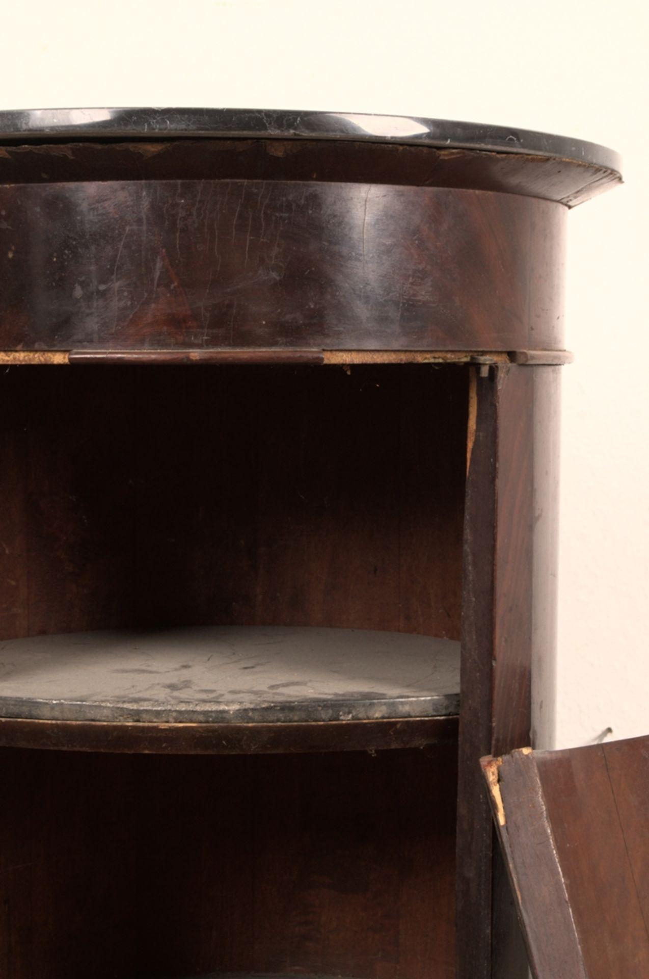 Antiker Säulenschrank/Trommelschrank, Biedermeier/Charles X, Frankreich 19./20. Jhd. Auf - Bild 6 aus 7