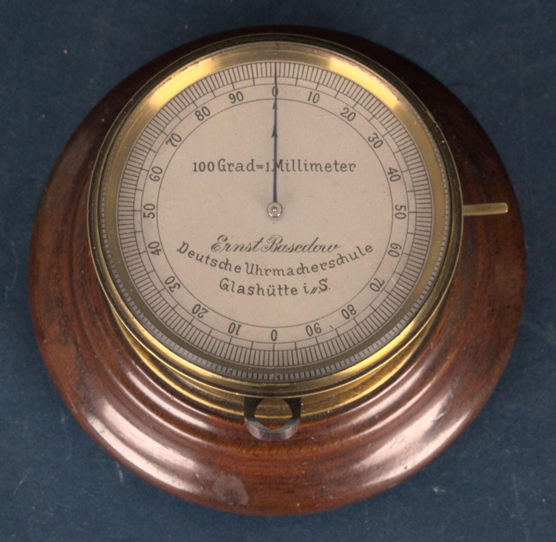 """""""ERNST BASEDOW - Deutsche Uhrmacherschule Glashütte i(n) S(achsen)"""" - inaktiver Feintaster auf - Bild 2 aus 9"""