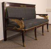 "Elegantes Sofa/Sitzbank sog. ""Kanapee"", Second Empire, Frankreich um 1900. Mahagoni massiv &"