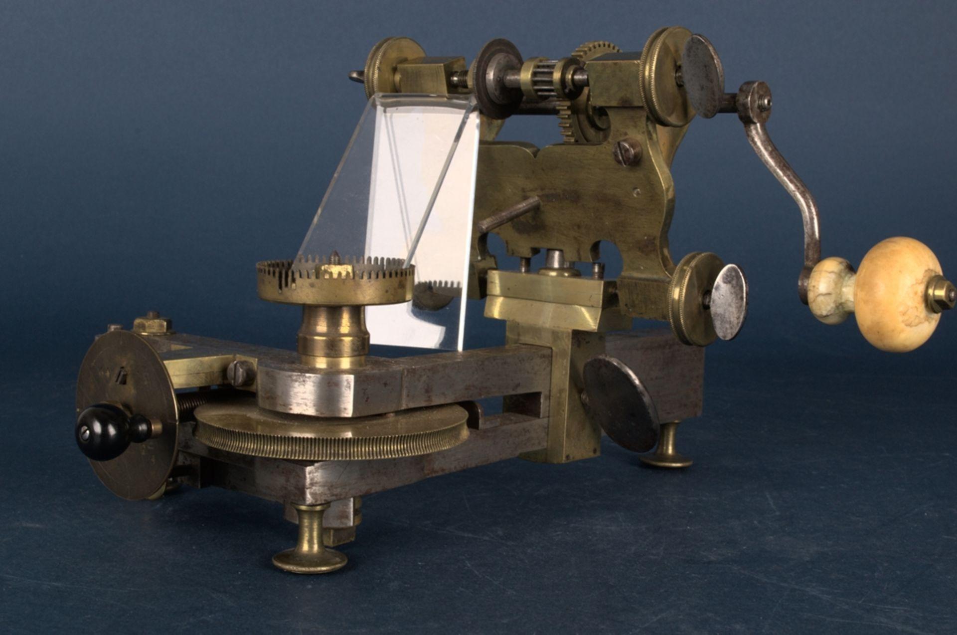 Zahnradfräsmaschine/Zahnräderschneidemaschine, frühes Uhrmacherwerkzeug, deutsch Mitte 18. Jhd., - Bild 27 aus 29