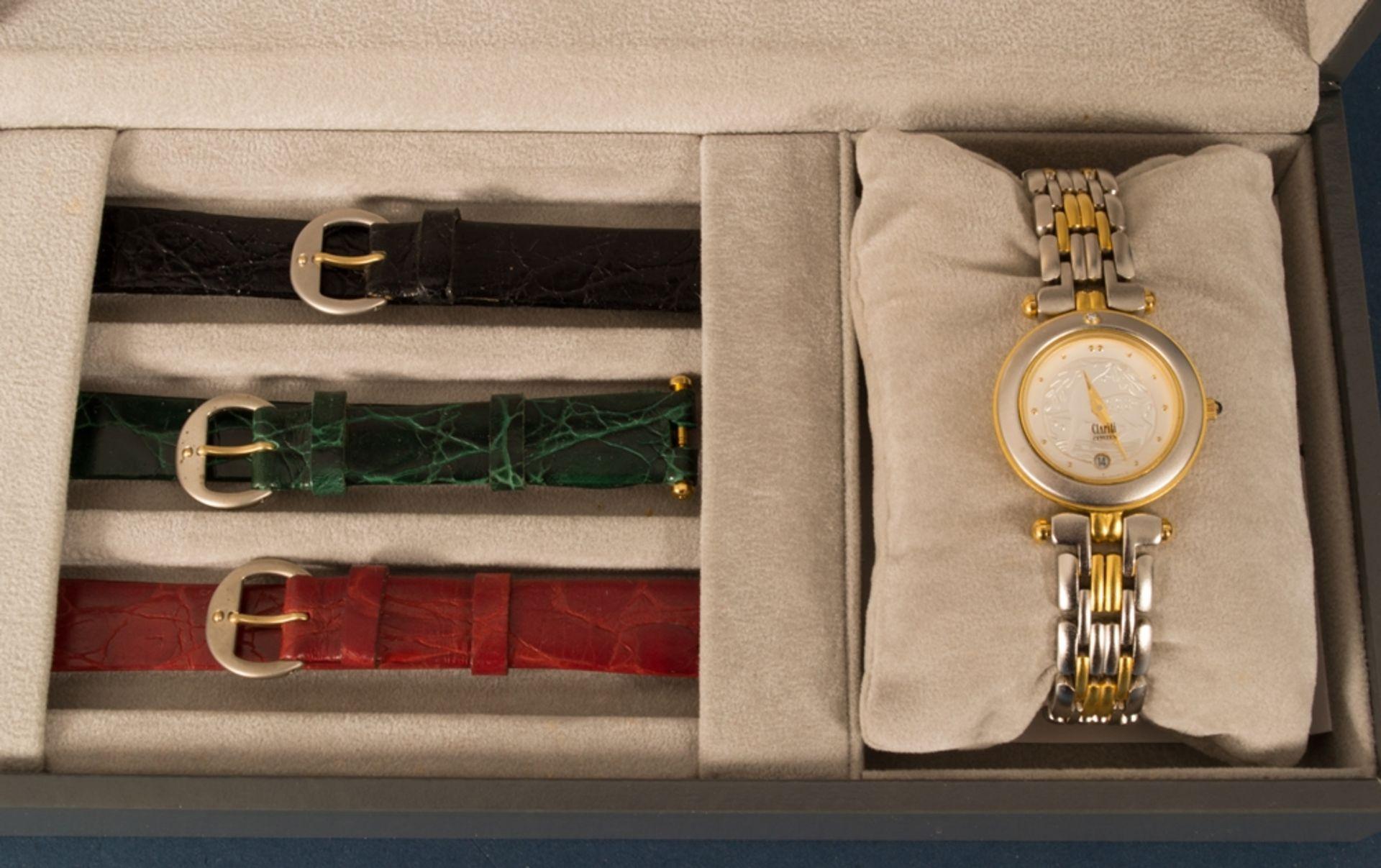 CITIZEN - CLARITI - BICOLOR (Stahl/Gold) Damenarmbanduhr, Ziffernblatt mit figürlicher Vignette (Reh - Bild 2 aus 8