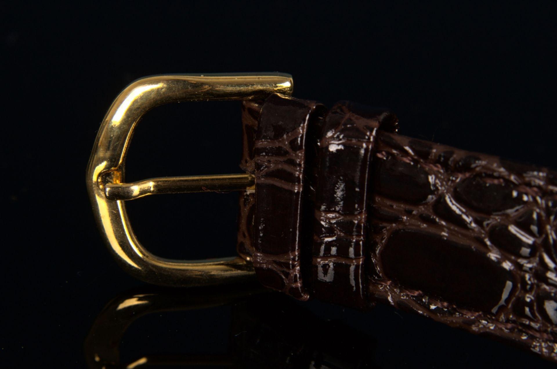 """""""LONGINES"""" - Elegante, goldene Herrenarmbanduhr der Marke Longines. Gehäuse in 18 K Gelbgold, - Bild 12 aus 12"""
