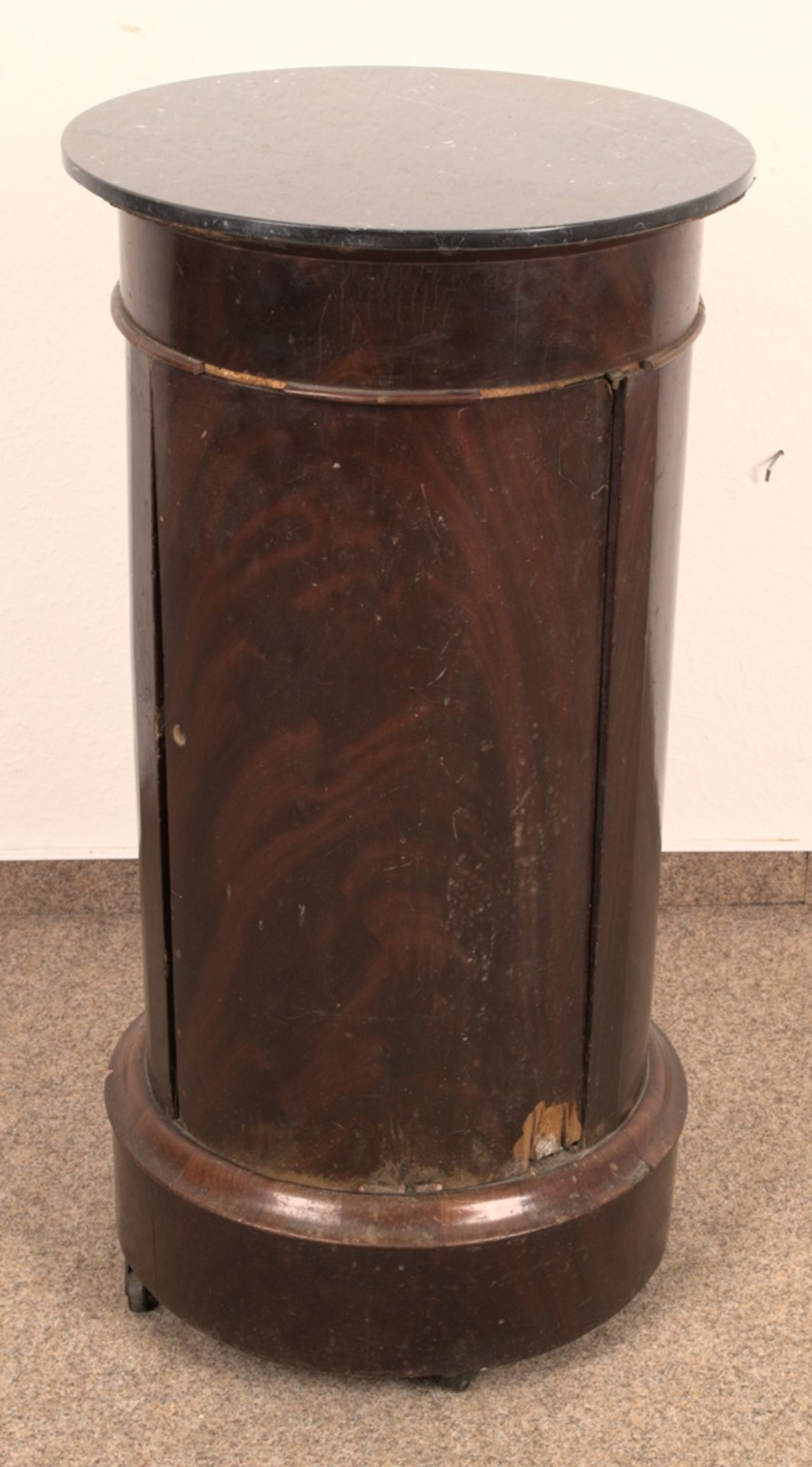 Antiker Säulenschrank/Trommelschrank, Biedermeier/Charles X, Frankreich 19./20. Jhd. Auf