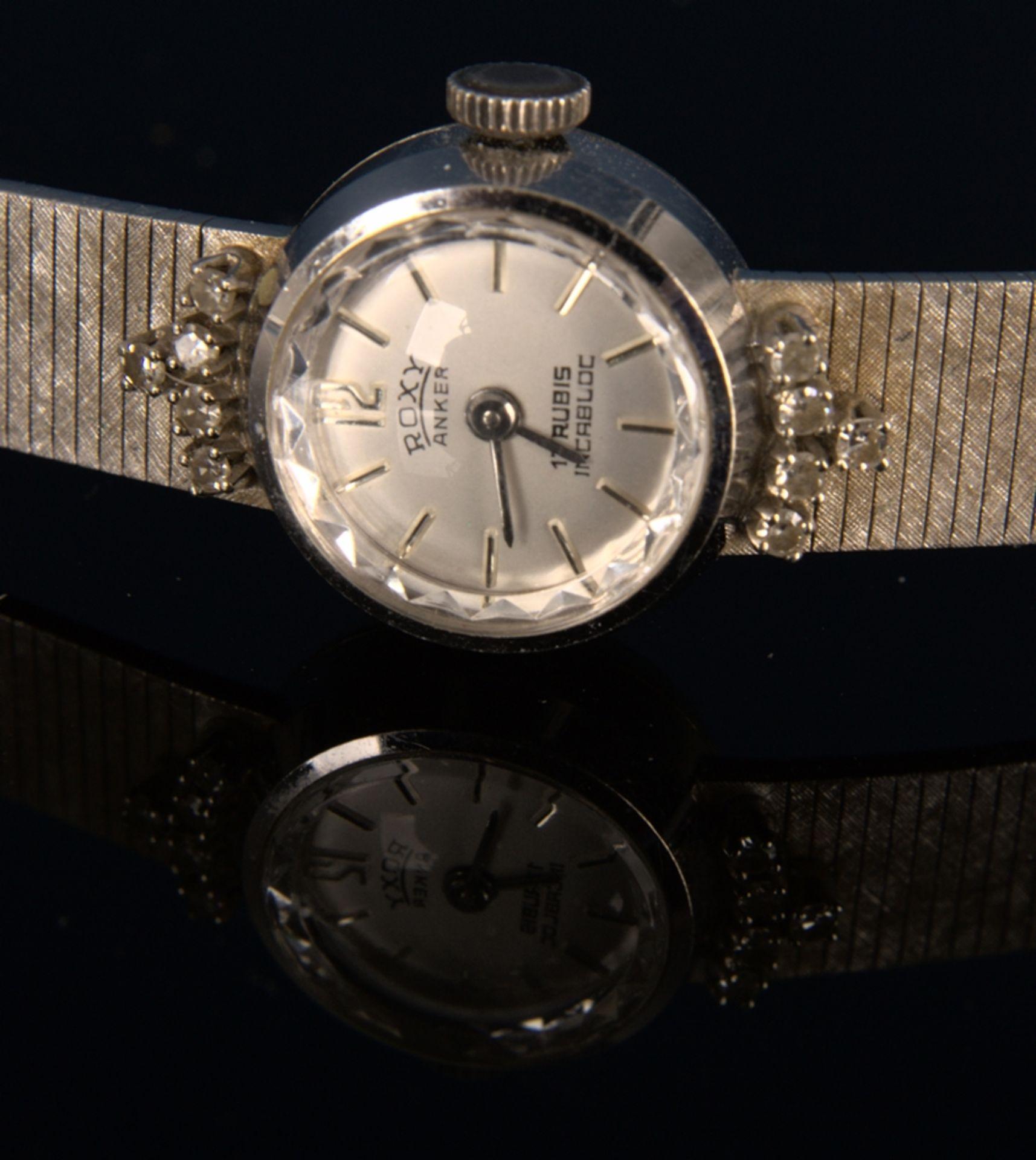 "Elegante COCKTAIL - Damenarmbanduhr der Marke ""ANKER - ROXY"" - 17 Rubis - Incabloc. Handaufzug, - Bild 4 aus 11"
