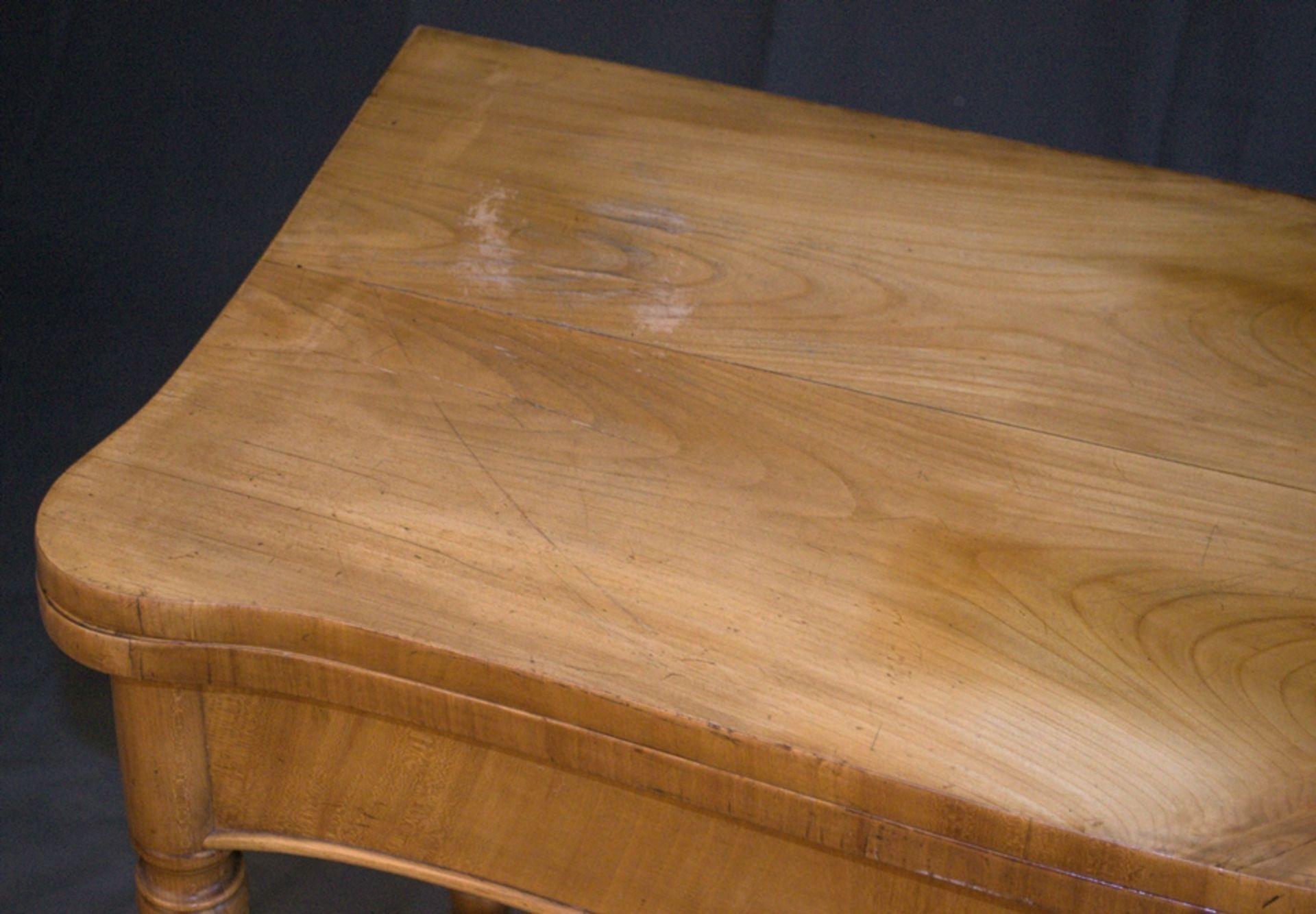 Konsoltisch/Spieltisch. Spätes Biedermeier um 1840/50. Kirschbaum massiv & furniert. Gepflegter - Bild 23 aus 24