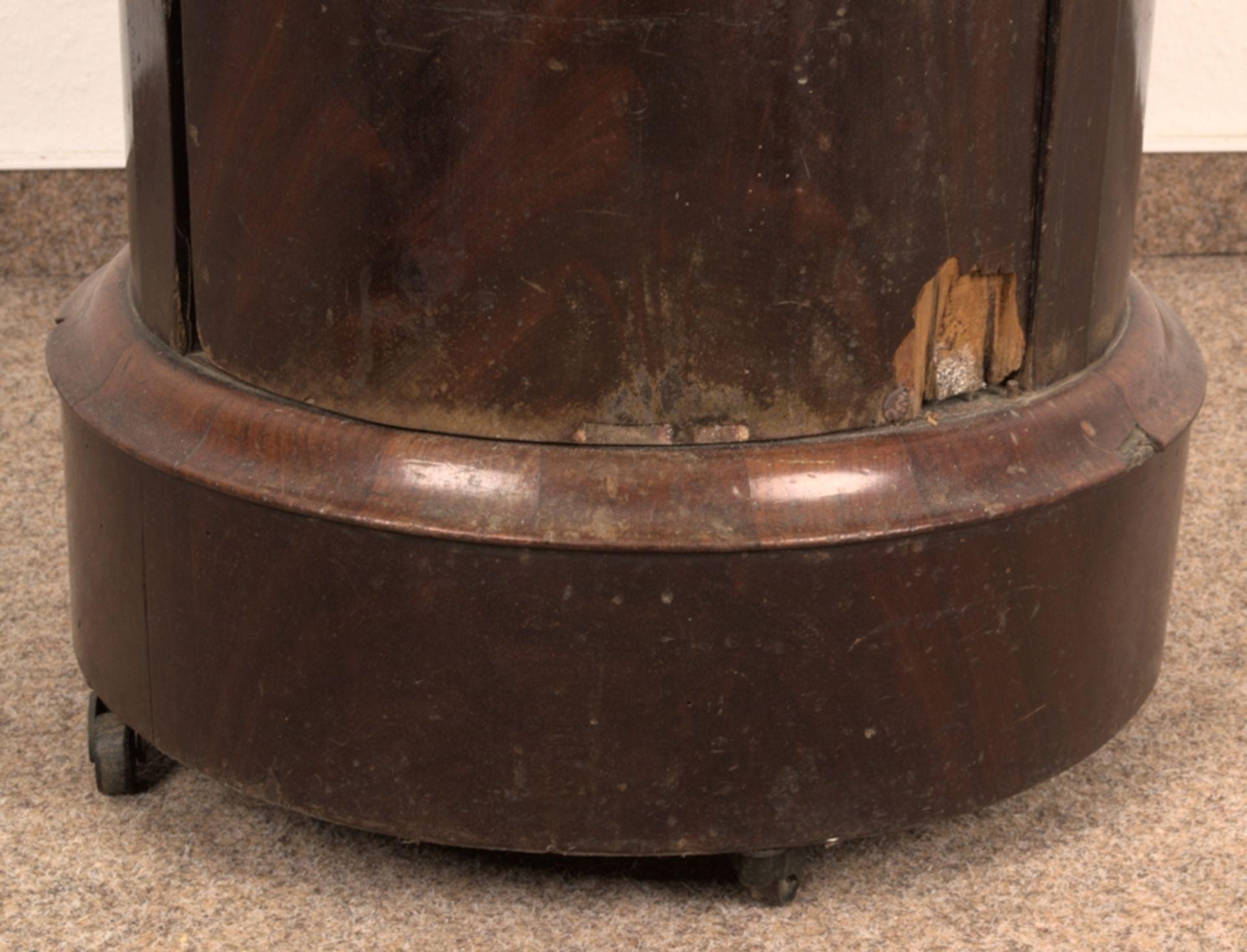 Antiker Säulenschrank/Trommelschrank, Biedermeier/Charles X, Frankreich 19./20. Jhd. Auf - Bild 4 aus 7