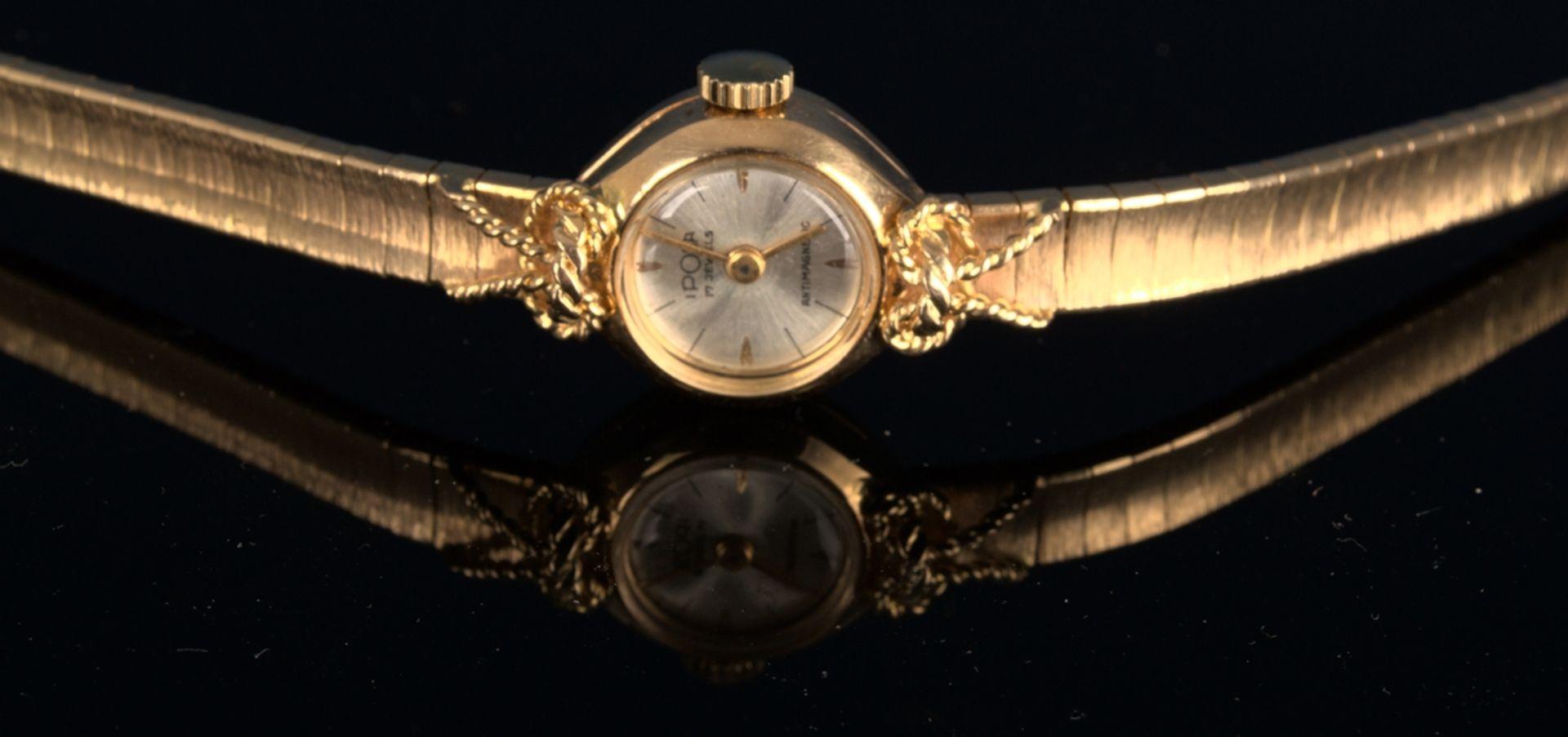 """Schmuckvolle, filigrane """"IPOSA"""" - Damenarmbanduhr, ungeprüftes mechanisches Uhrwerk mit 17"""