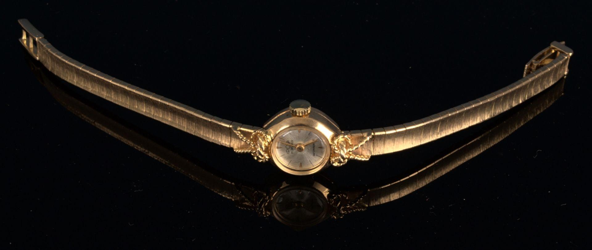 """Schmuckvolle, filigrane """"IPOSA"""" - Damenarmbanduhr, ungeprüftes mechanisches Uhrwerk mit 17 - Bild 2 aus 6"""