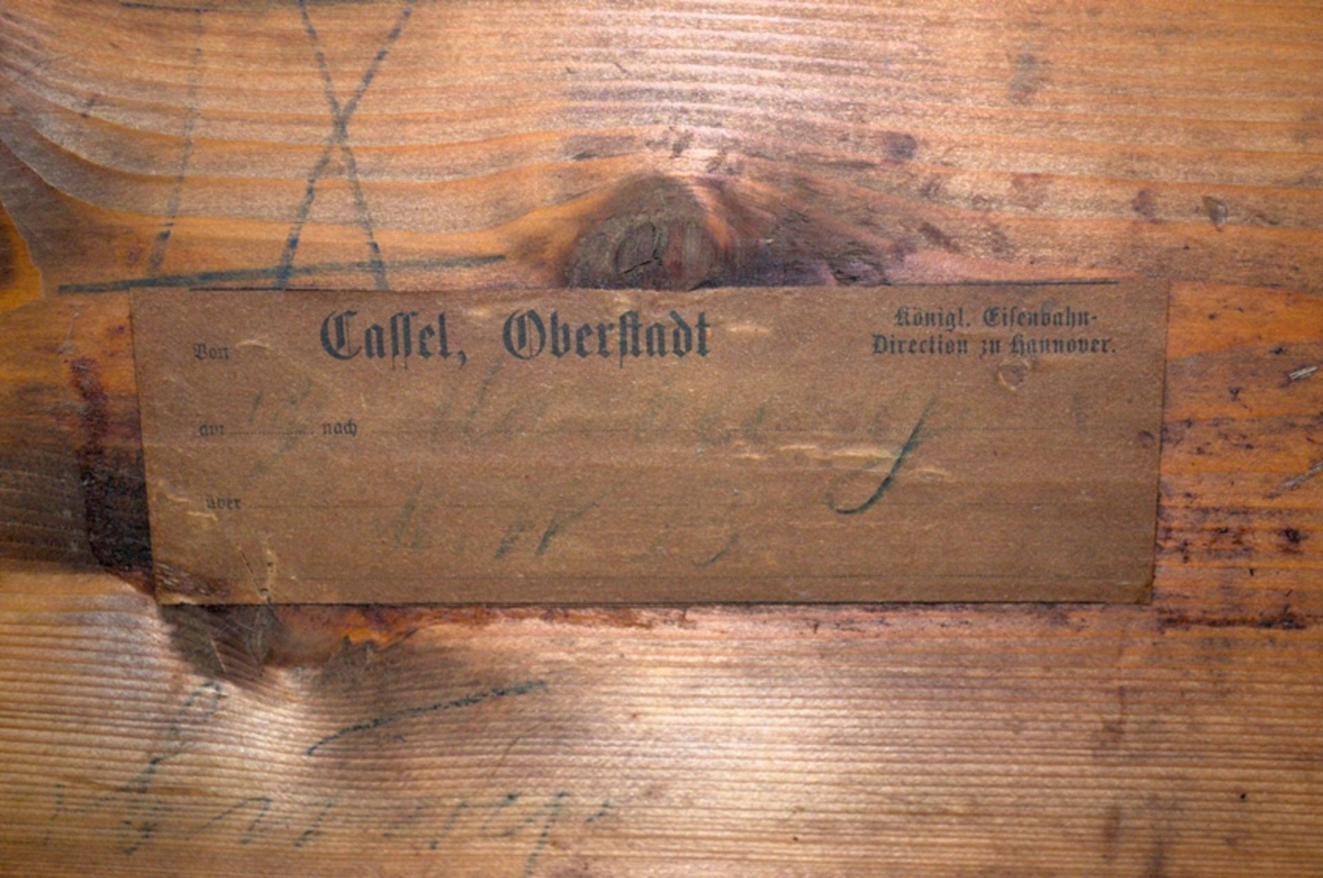 Konsoltisch/Spieltisch. Spätes Biedermeier um 1840/50. Kirschbaum massiv & furniert. Gepflegter - Bild 22 aus 24