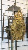 Antike englische LANTERN Clock des 19. Jhdts. Schweres geschmiedetes, von den Seiten einsehbares