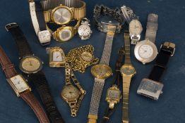 16 teiliges Konvolut versch. Damenarmbanduhren, alle ungeprüft. Versch. Alter, Größen, Hersteller,