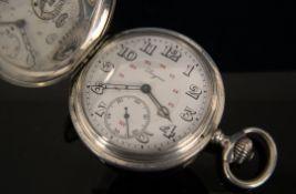 Elegante LONGINES Savonette Herrentaschenuhr der 1920er/30er Jahre; schlichtes 900er