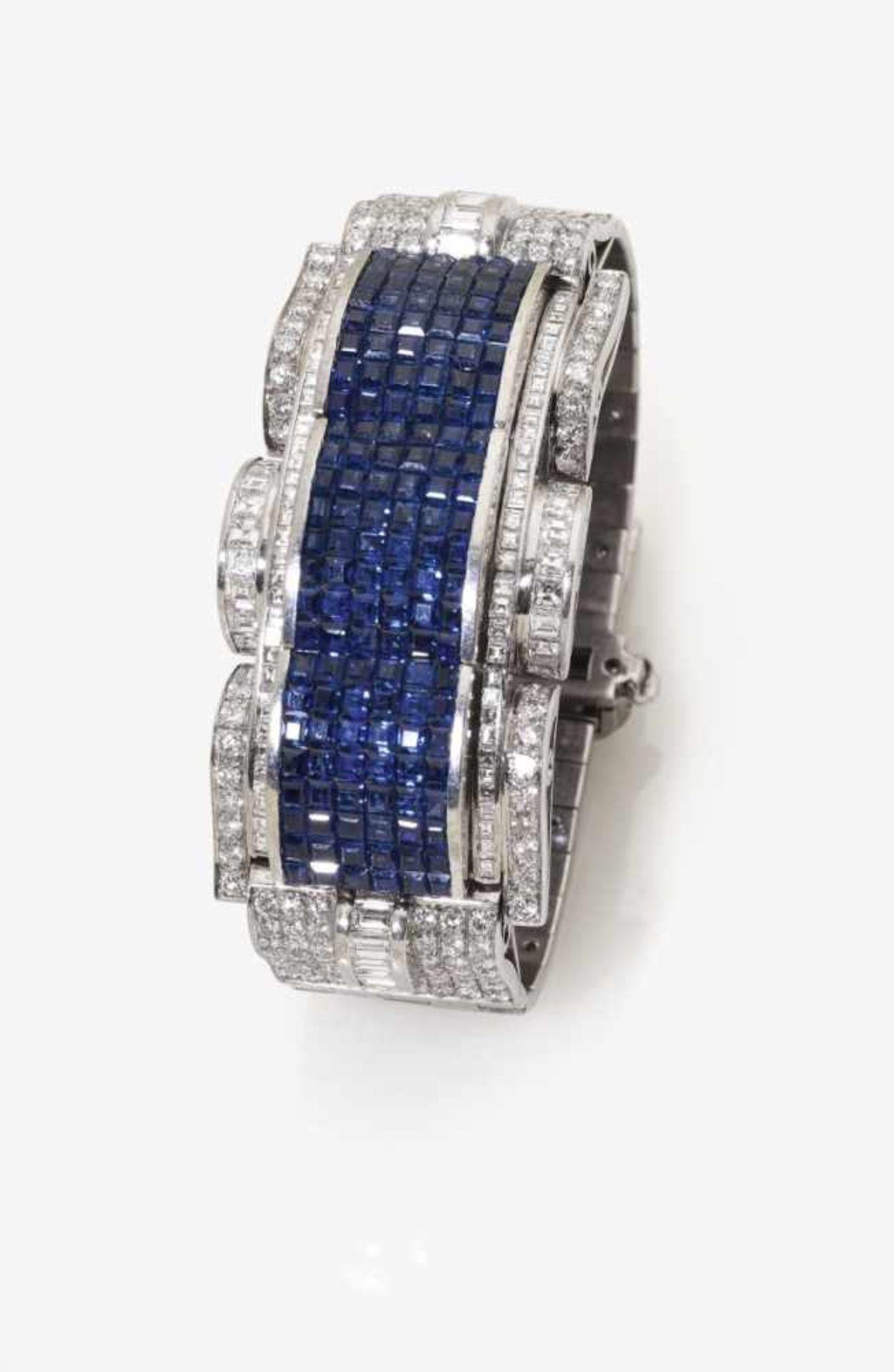 Los 1038 - A Sapphire and Diamond Bracelet