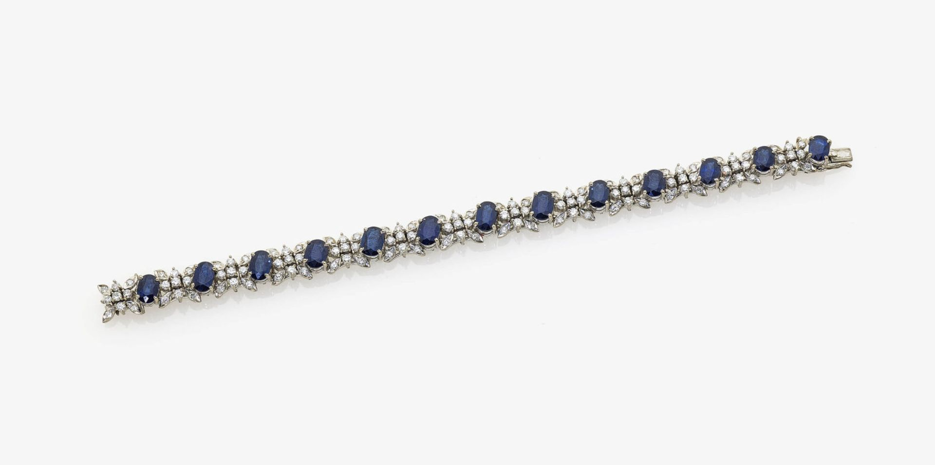 Los 1036 - A Sapphire and Diamond Bracelet