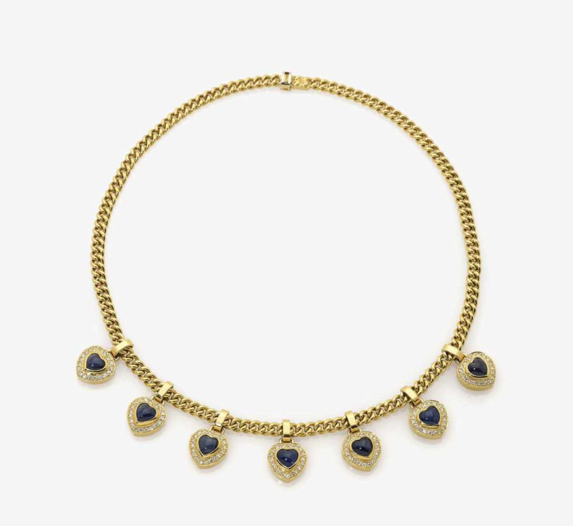 Los 1049 - A Diamond and Sapphire Necklace