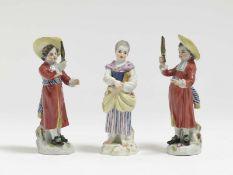 Drei Gärtnerkinder