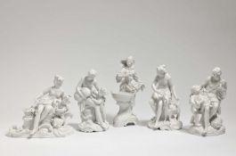 Winzerin und vier Bacchantengruppen