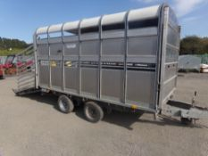 IFOR WILLIAMS LIVESTOCK TRAILER WITH DECKS AND GATES (NO VAT)