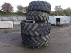 ASSORTMENT OF USED TYRES 600/65/R38 (NO